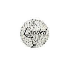 Landen, Matrix, Abstract Art Mini Button