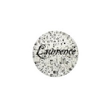 Lawrence, Matrix, Abstract Art Mini Button