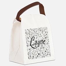 Layne, Matrix, Abstract Art Canvas Lunch Bag