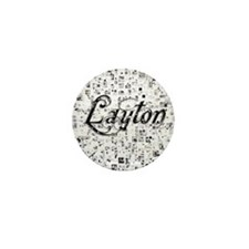 Layton, Matrix, Abstract Art Mini Button