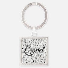 Leonel, Matrix, Abstract Art Square Keychain