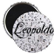 Leopoldo, Matrix, Abstract Art Magnet
