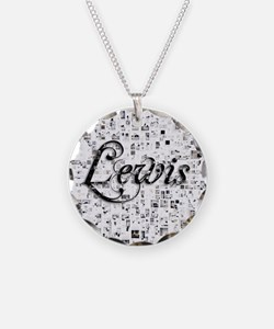Lewis, Matrix, Abstract Art Necklace