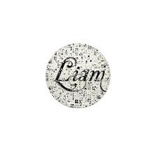 Liam, Matrix, Abstract Art Mini Button