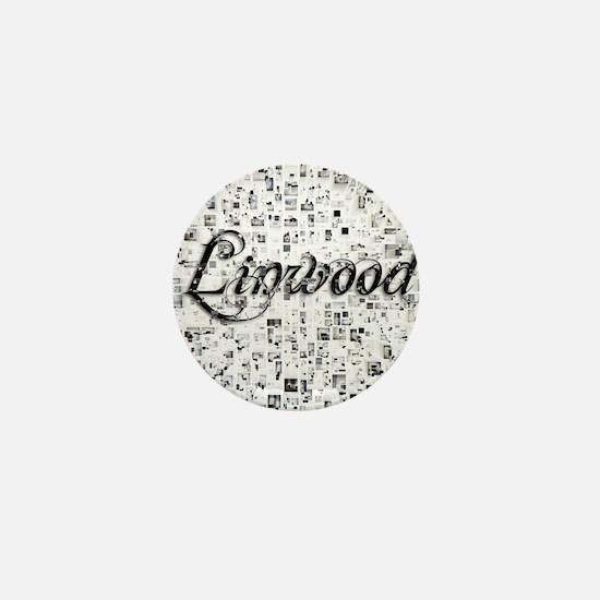 Linwood, Matrix, Abstract Art Mini Button