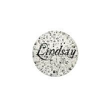 Lindsay, Matrix, Abstract Art Mini Button