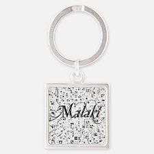 Malaki, Matrix, Abstract Art Square Keychain