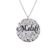 Malaki, Matrix, Abstract Art Necklace