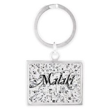 Malaki, Matrix, Abstract Art Landscape Keychain