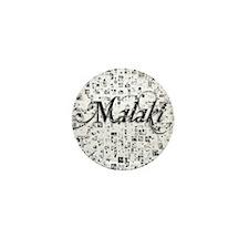 Malaki, Matrix, Abstract Art Mini Button