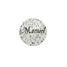 Manuel, Matrix, Abstract Art Mini Button