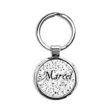 Marcel, Matrix, Abstract Art Round Keychain