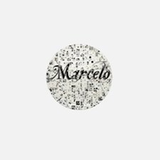 Marcelo, Matrix, Abstract Art Mini Button