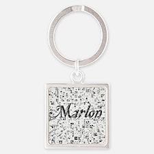 Marlon, Matrix, Abstract Art Square Keychain