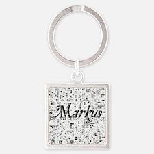 Markus, Matrix, Abstract Art Square Keychain