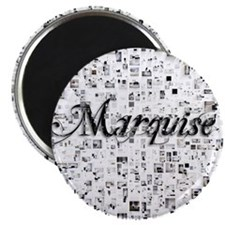 Marquise, Matrix, Abstract Art Magnet