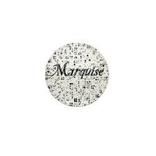 Marquise, Matrix, Abstract Art Mini Button