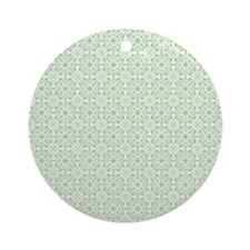 amara pistachio shower curtain Round Ornament