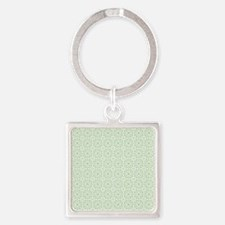 amara pistachio shower curtain Square Keychain