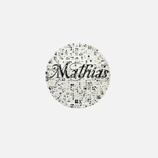 Mathias, Matrix, Abstract Art Mini Button