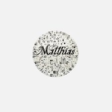 Matthias, Matrix, Abstract Art Mini Button