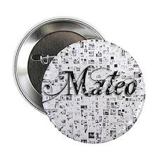 """Mateo, Matrix, Abstract Art 2.25"""" Button"""