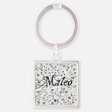 Mateo, Matrix, Abstract Art Square Keychain