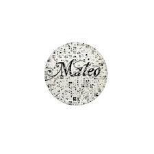 Mateo, Matrix, Abstract Art Mini Button