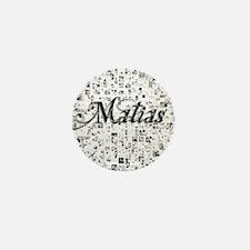 Matias, Matrix, Abstract Art Mini Button