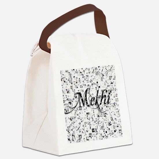 Mekhi, Matrix, Abstract Art Canvas Lunch Bag
