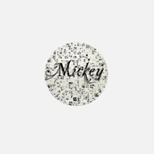 Mickey, Matrix, Abstract Art Mini Button