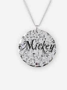 Mickey, Matrix, Abstract Art Necklace