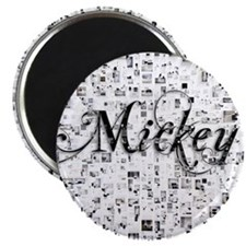 Mickey, Matrix, Abstract Art Magnet