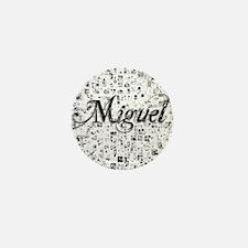 Miguel, Matrix, Abstract Art Mini Button