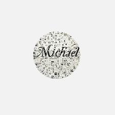 Michael, Matrix, Abstract Art Mini Button
