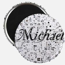 Michael, Matrix, Abstract Art Magnet
