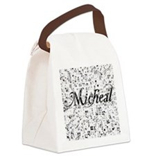 Micheal, Matrix, Abstract Art Canvas Lunch Bag
