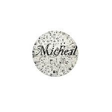 Micheal, Matrix, Abstract Art Mini Button