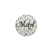 Mikel, Matrix, Abstract Art Mini Button