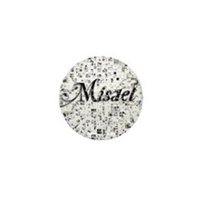 Misael, Matrix, Abstract Art Mini Button
