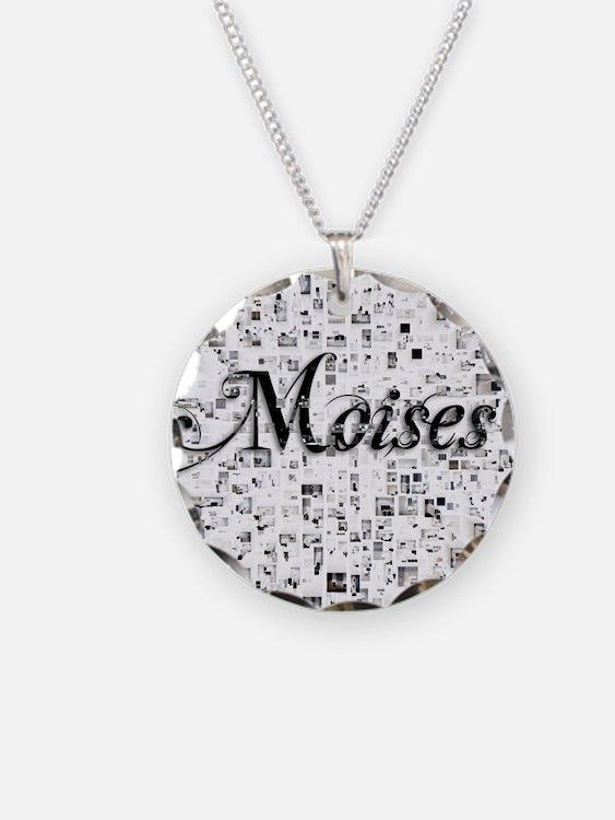 Moises, Matrix, Abstract Art Necklace