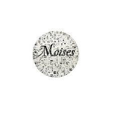 Moises, Matrix, Abstract Art Mini Button