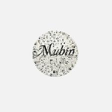 Mubin, Matrix, Abstract Art Mini Button