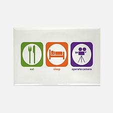 Eat Sleep Operate Camera Rectangle Magnet