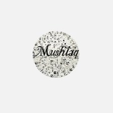 Mushtaq, Matrix, Abstract Art Mini Button