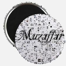 Muzaffar, Matrix, Abstract Art Magnet