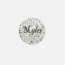Myles, Matrix, Abstract Art Mini Button