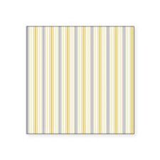 "Amber Stripe Duvet King Square Sticker 3"" x 3"""