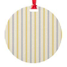 Amber Stripe Duvet King Round Ornament