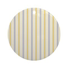 Amber Stripe Duvet King Round Ornament